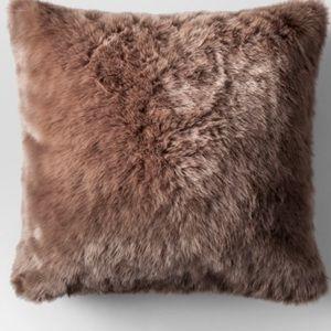 Faux Fur Oversized Pillow